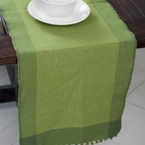 green-razia-cotton-woven-runner - table-linen-and-accessories