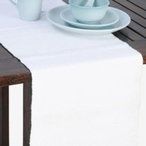 white-cotton-woven-rib-table-runner - table-linen-and-accessories