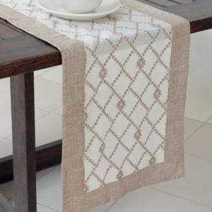 yellow-cotton-cutwork-runner - table-linen-and-accessories