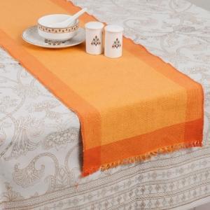 orange-cotton-woven-razia-runner - table-linen-and-accessories