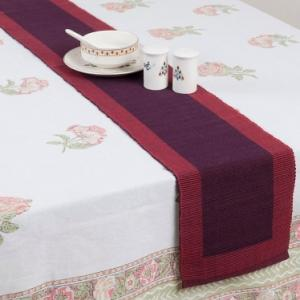 red-cotton-woven-narrow-rib-runner - table-linen-and-accessories