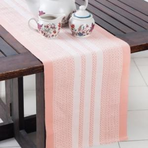 pink-cotton-woven-beena-table-runner - table-linen-and-accessories