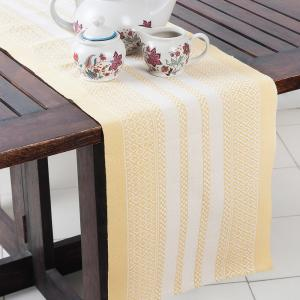 yellow-cotton-woven-beena-table-runner - table-linen-and-accessories