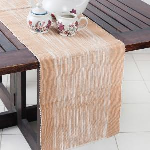 beige-cotton-woven-hasan-table-runner-s - table-linen-and-accessories