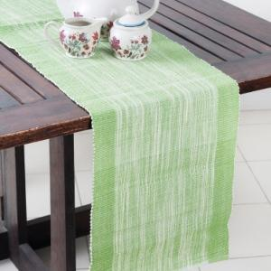 green-cotton-woven-hasan-table-runner - table-linen-and-accessories