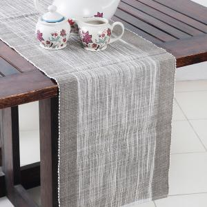 grey-cotton-woven-hasan-table-runner - table-linen-and-accessories