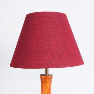 maroon-cotton-basix-table-lamp-shade - table-lamps