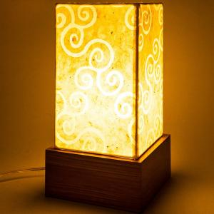 white-waxpaper-cuboid-table-lamp - table-lamps