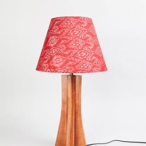 brown-wooden-taper-cross-table-lamp - table-lamps