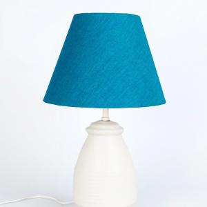 off-white-ceramic-oval-bedside-table-lamp - table-lamps