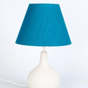 off-white-ceramic-round-bedside-table-lamp - table-lamps