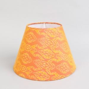 orange-silk-cotton-nadya-basix-lamp-shade - table-lamps