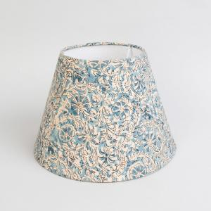blue-cotton-nuraz-kalamkari-basix-lamp-shade - table-lamps