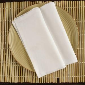 white-cotton-woven-plain-napkin-set-of-6 - table-linen-and-accessories