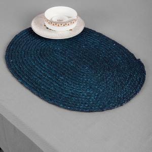 blue-natural-fibre-sawai-grass-mat - table-linen-and-accessories