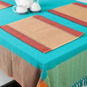 red-cotton-woven-zeeya-table-mat-set-of-6 - table-linen-and-accessories