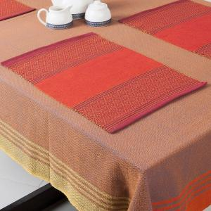 red-cotton-woven-mirania-table-mat-set-of-6 - table-linen-and-accessories