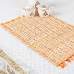 orange-bamboo-woven-aditi-table-mat - table-linen-and-accessories