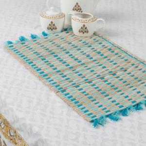 blue-bamboo-woven-aditi-table-mat - table-linen-and-accessories