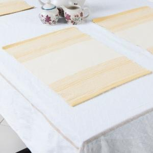yellow-cotton-woven-beena-table-mat-set-of-6 - table-linen-and-accessories