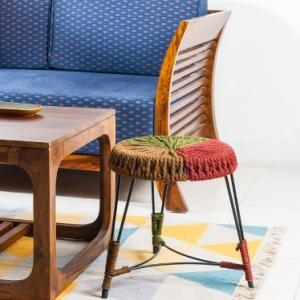 metal-roli-multicolour-rope-stool - benches-stools-and-ottomans