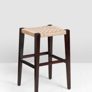 sheesham-wood-jura-bar-jute-stool - benches-stools-ottomans