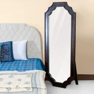sheesham-wood-amer-floor-mirror - mirrors-and-jharokhas