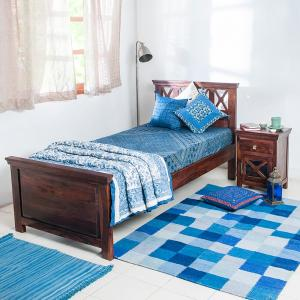 sheesham-wood-crisscross-single-bed - beds