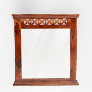 sheesham-wood-crisscross-wall-mirro - mirrors-and-jharokhas