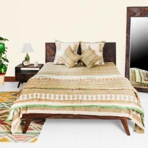 sheesham-wood-acacia-cara-queen-bed - beds