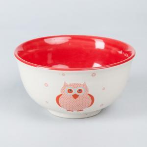 orange-ceramic-ozzy-owl-cereal-bowl - kids-dining