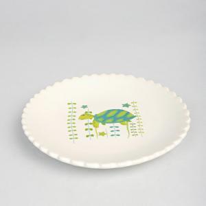 green-ceramic-kachua-quarter-plate - kids-dining