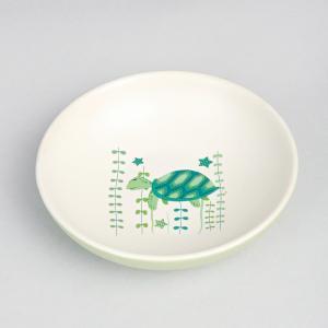 green-ceramic-kachua-flat-serving-bowl - kids-dining