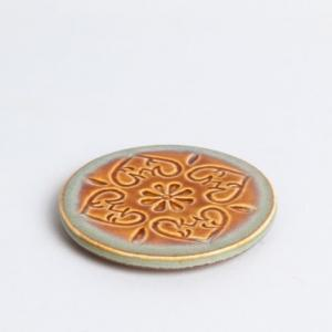 ceramic-sadyanta-glazed-engraved-coaster - table-linen-and-accessories