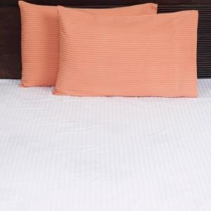 orange-cotton-woven-twill-pillow-cover - bed-linen