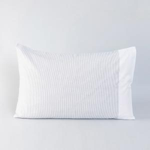 grey-cotton-woven-pin-striped-pillow-cover - bed-linen