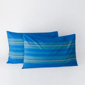 blue-cotton-woven-samrit-pillow-cover - bed-linen