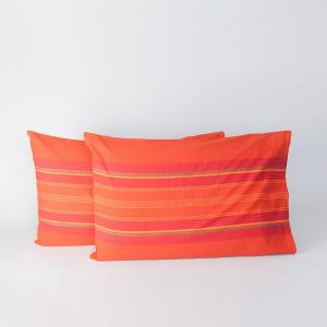 orange-cotton-woven-samrit-pillow-cover - bed-linen