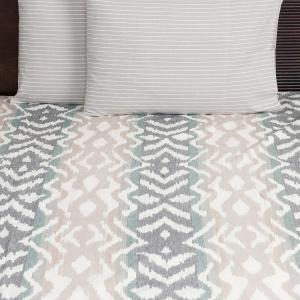 grey-cotton-woven-nile-stripe-pillow-cover - bed-linen