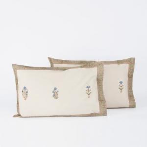 blue-cotton-printed-rajni-pillow-cover - bed-linen