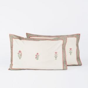 pink-cotton-printed-rajni-pillow-cover - bed-linen