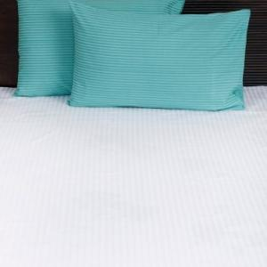 blue-cotton-woven-twill-pillow-cover - bed-linen