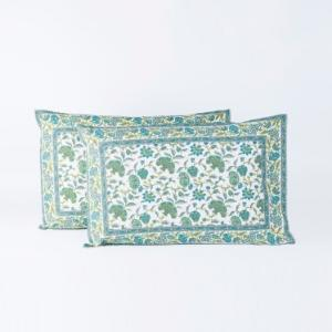blue-cotton-printed-kamya-jaal-pillow-cover - bed-linen