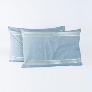 blue-cotton-woven-mehul-set-of-2-pillow - bed-linen