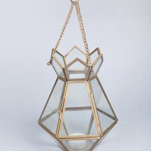 glass-metal-hanging-lantern - lanterns