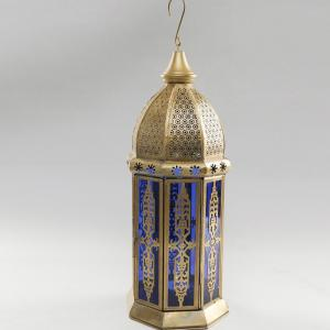 metal-glass-table-hanging-lantern - lanterns