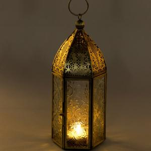 metal-glass-table-big-hanging-lantern - lanterns