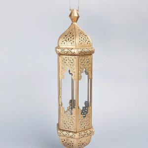metal-glass-hanging-lantern - lanterns