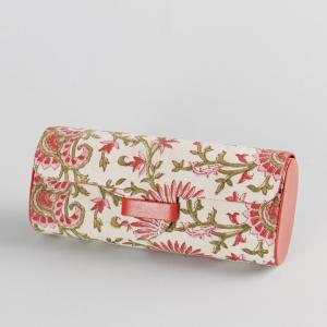 fabric-leather-board-floral-spectacle-case - desk-decor