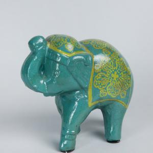 terracotta-accents-elephant - statues-sculptures-and-artifacts